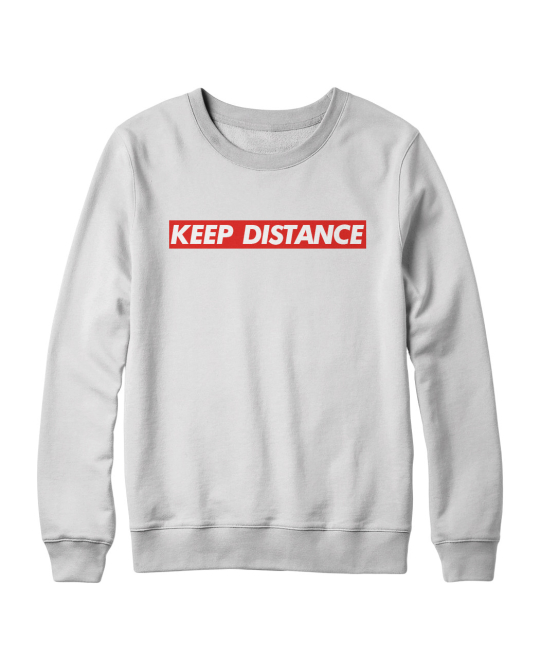 Keep distance sweater wit